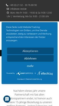 Vorschau der mobilen Webseite www.see-red.de, See Red GmbH