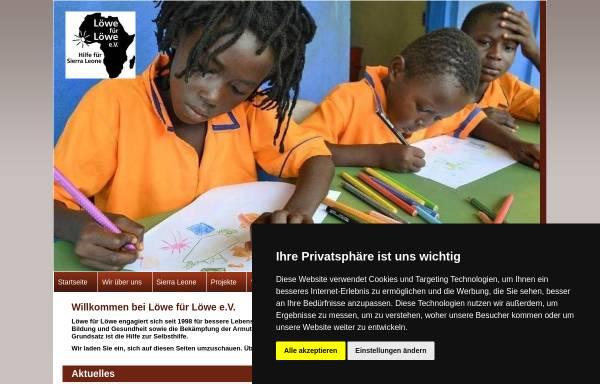 Vorschau von www.loewefuerloewe.de, Löwe für Löwe e.V.