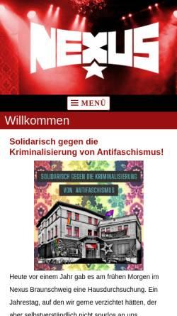 Vorschau der mobilen Webseite www.dasnexus.de, Nexus - Verein zur Förderung unabhängiger Kultur e.V.