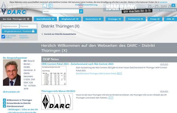 Vorschau von www.darc.de, DARC Distrikt Thüringen (X-DOK)