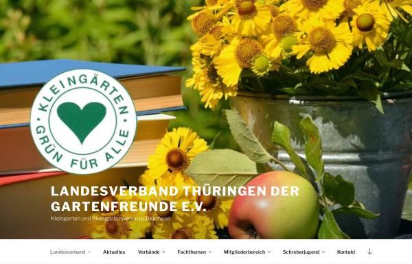 Vorschau von www.gartenfreunde-thueringen.de, Landesverband Thüringen der Gartenfreunde e.V.