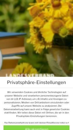 Vorschau der mobilen Webseite www.gartenfreunde-thueringen.de, Landesverband Thüringen der Gartenfreunde e.V.