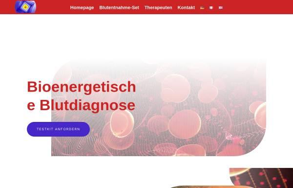 Vorschau von www.blutdiagnose.com, Institut für bioenergetische Blutdiagnose