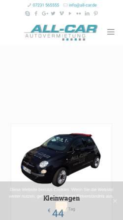 Vorschau der mobilen Webseite www.all-car.de, All Car