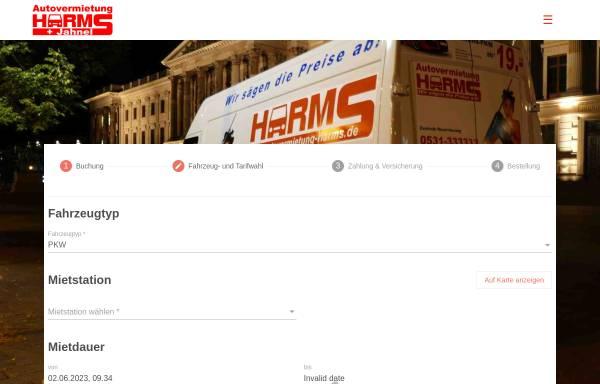 Vorschau von www.autovermietung-harms.de, Autovermietung Harms GmbH