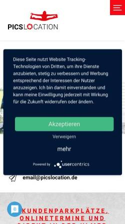Vorschau der mobilen Webseite www.picslocation.de, Neher, Peter