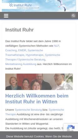Vorschau der mobilen Webseite www.nlp-ausbildungsinstitut.de, NLP-Ausbildungsinstitut Ruhr, Roman Simeunovic