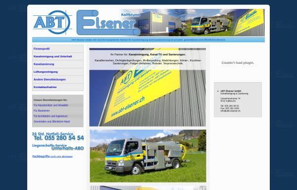Vorschau von www.elsenerkanal.ch, Elsener Kanalrohr-Technik GmbH