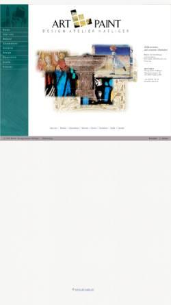 Vorschau der mobilen Webseite www.art-paint.ch, ART-PAINT Design Atelier Häfliger