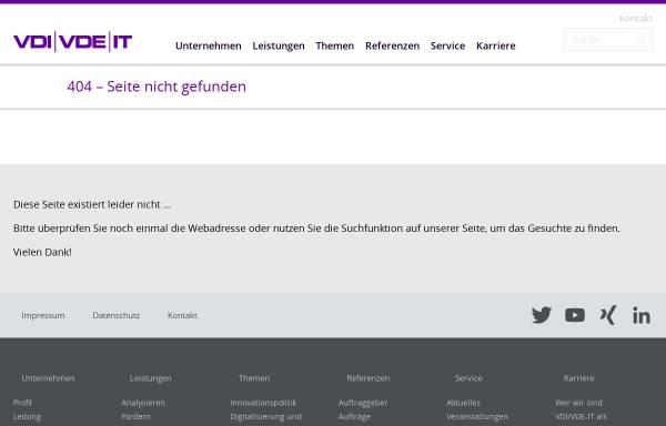 Vorschau von www.vdivde-it.de, Technologische und wirtschaftliche Perspektiven Deutschlands durch Konvergenz elektronischer Medien - Ergebnisse