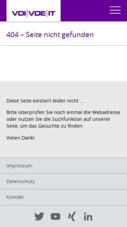 Vorschau der mobilen Webseite www.vdivde-it.de, Technologische und wirtschaftliche Perspektiven Deutschlands durch Konvergenz elektronischer Medien - Ergebnisse