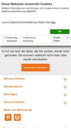 Vorschau der mobilen Webseite www.wohnen.de, Betten - Alles zum Thema Bett und Betten bei Wohnen.de