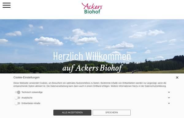 Vorschau von ackers-biohof.de, Ackers Biohof, Familie Mütze