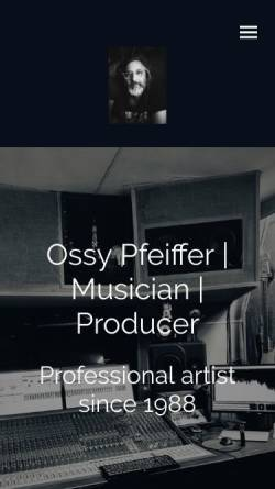 Vorschau der mobilen Webseite www.osmator.com, Ossy Pfeiffer