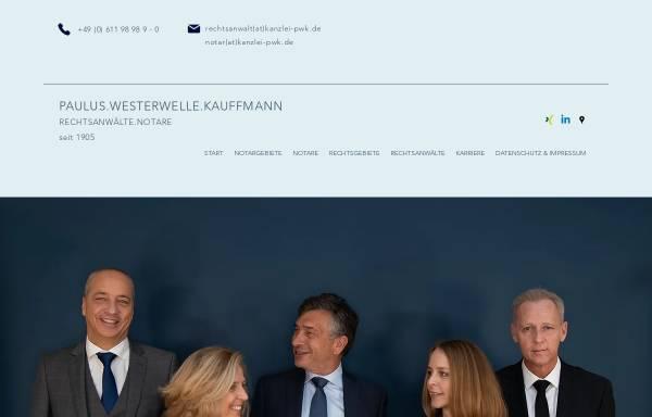 Vorschau von www.paulus-westerwelle.de, Paulus, Westerwelle - Rechtsanwälte und Notare