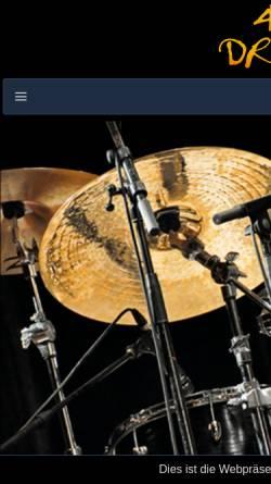 Vorschau der mobilen Webseite www.4x4drums.de, Neumann, Paul, Lehrbuch 4x4 Drums