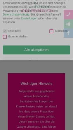 Vorschau der mobilen Webseite www.nuklearmedizin-gs.de, Nuklearmedizinische Praxis Dres. Heinken und Straube