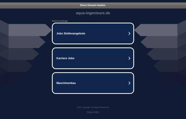 Vorschau von www.aqua-ingenieure.de, Aqua-Ingenieure GmbH