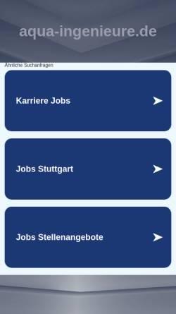 Vorschau der mobilen Webseite www.aqua-ingenieure.de, Aqua-Ingenieure GmbH