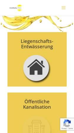 Vorschau der mobilen Webseite www.krtag.ch, KRT Kanalsanierungstechnik AG