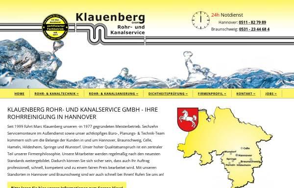 Vorschau von www.ist-dein-rohr-frei.de, Klauenberg GmbH Rohr- und Kanalservice
