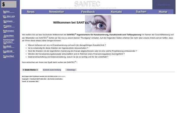 Vorschau von www.santec-gmbh.de, Santec GmbH