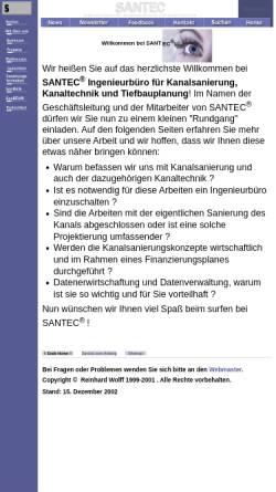 Vorschau der mobilen Webseite www.santec-gmbh.de, Santec GmbH