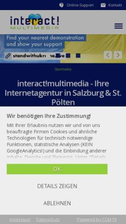 Vorschau der mobilen Webseite www.interactmultimedia.at, Interact! Multimedia
