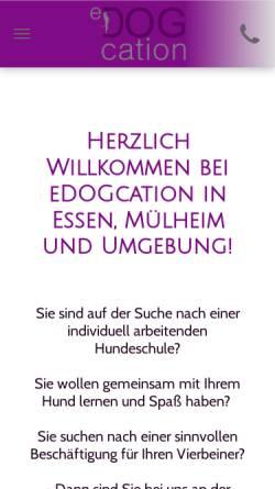 Vorschau der mobilen Webseite www.edogcation.de, EDOGcation - Vanessa Schäfer