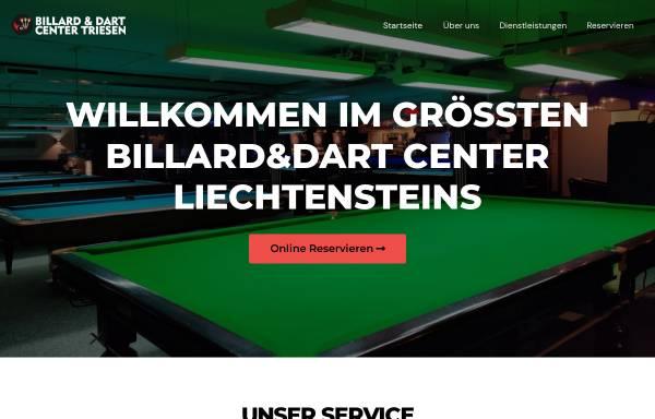 Vorschau von www.billardcenter.li, Billard und Dart Center Triesen