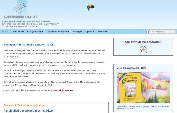 Vorschau von www.konsumentenverband.ch, Konsumenten Verband