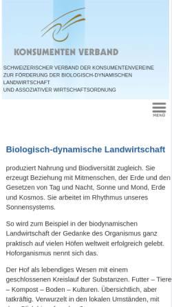 Vorschau der mobilen Webseite www.konsumentenverband.ch, Konsumenten Verband