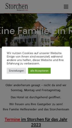 Vorschau der mobilen Webseite www.storchen-schmidhofen.de, Hotel Restaurant Storchen
