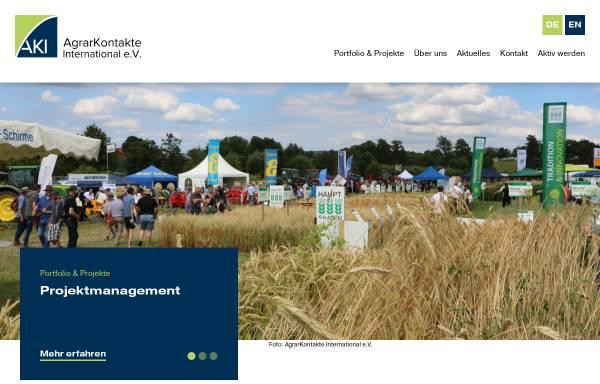 Vorschau von www.agrarkontakte.de, Agrarkontakte International e.V.