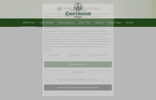 Vorschau von www.brauerei-hartmann.de, Brauerei-Gasthof-Hotel Hartmann
