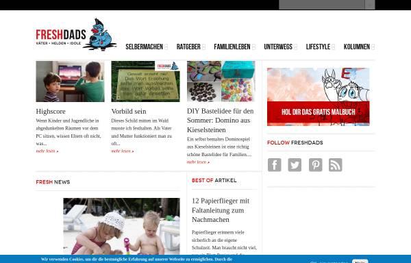 Vorschau von www.freshdads.com, Freshdads - Väter Helden und Idole