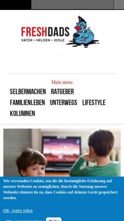 Vorschau der mobilen Webseite www.freshdads.com, Freshdads - Väter Helden und Idole