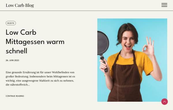 Vorschau von www.low-carb-ernaehrung.de, Low Carb Ernährung