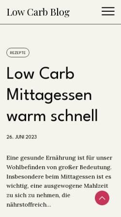 Vorschau der mobilen Webseite www.low-carb-ernaehrung.de, Low Carb Ernährung