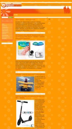Vorschau der mobilen Webseite www.paulsmama.de, Magazin für Mütter, Eltern und Schwangere
