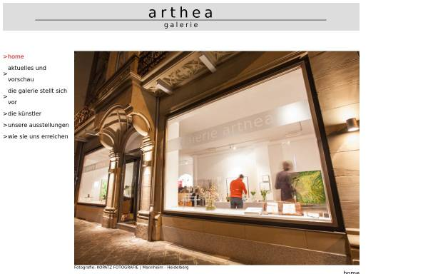 Vorschau von www.arthea.de, Arthea - Galerie am Rosengarten
