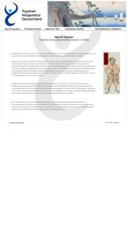 Vorschau der mobilen Webseite toyohari.de, Toyohari Association Deutschland