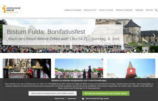 Vorschau von www.bistum-fulda.de, Bistum Fulda