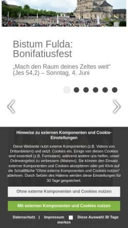 Vorschau der mobilen Webseite www.bistum-fulda.de, Bistum Fulda