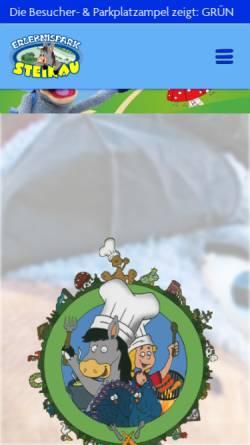 Vorschau der mobilen Webseite www.erlebnispark-steinau.de, Erlebnispark Steinau