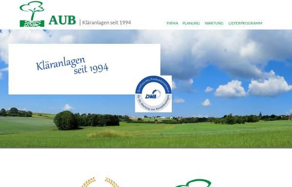 Vorschau von www.aub-abwasser.de, AUB Abwasser- und Umweltanlagen GmbH