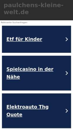 Vorschau der mobilen Webseite www.paulchens-kleine-welt.de, Paulchens kleine Welt