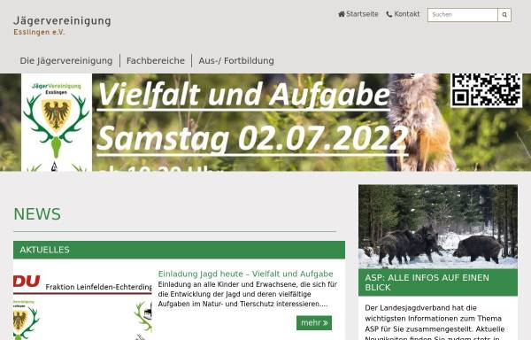 Vorschau von www.jaeger-es.de, Jägervereinigung Esslingen e.V.