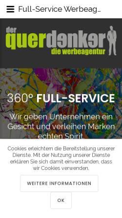 Vorschau der mobilen Webseite www.der-querdenker.at, Werbeagentur der Querdenker