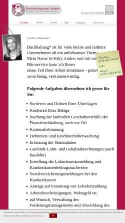 Vorschau der mobilen Webseite buchhaltungmalanders.de, Buchhaltung mal Anders